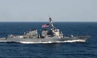 USA werden Patrouillenschiffe zu den illegalen Inseln Chinas im Ostmeer schicken