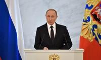 Russlands Präsident Wladimir Putin hält Rede an die Nation
