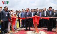 Einweihung der Brücke zwischen Provinzen Vietnams und Kambodschas