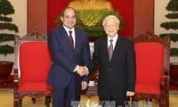 KPV-Generalsekretär Nguyen Phu Trong empfängt den ägyptischen Präsidenten