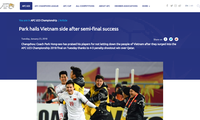 Freude über den Sieg der U23-Fußballmannschaft im Halbfinale der U23-Fußballasienmeisterschaft