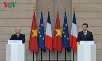 Medien in Frankreich berichten über den Besuch des KPV-Generalsekretärs Nguyen Phu Trong