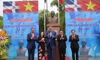 Einweihung des Denkmals des Professors Juan Bosch in Hanoi – der erste Präsident der dominikanischen Republik