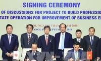 Zusammenarbeit zwischen dem Regierungsbüro und der JICA im Aufbau der elektronischen Regierung