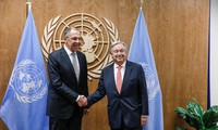 UN-Vollversammlung: UN-Generalsekretär und Russlands Außenminister diskutieren über Konflikte in Syrien und Ostukraine
