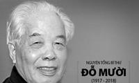 Spitzenpolitiker und internationale Parteien schicken Beileidtelegramme zum Tod des ehemaligen KPV-Generalsekretärs Do Muoi