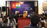 Pressekonferenz der vietnamesischen Botschaft in Indien vor dem Vietnambesuch des indischen Präsidenten