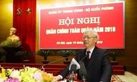 KPV-Generalsekretär Nguyen Phu Trong nimmt an politisch-militärischer Konferenz teil