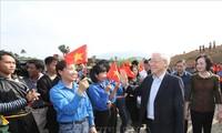 KPV-Generalsekretär und Staatspräsident Nguyen Phu Trong: Das Baumpflanzen bringt dem Land große Interessen