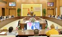Konferenz des Parlamentsausschusses und Präsidiums der Vaterländischen Front Vietnams