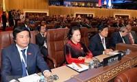 Parlamentspräsidentin Nguyen Thi Kim Ngan nimmt an der Eröffnung der 140. IPU-Vollversammlung teil