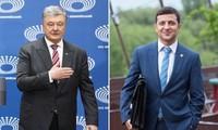 Präsidentschaftswahl in der Ukraine: Zwei Kandidaten führen Debatte vor 60.000 Menschen
