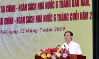 Vizeprermierminister Vuong Dinh Hue nimmt an der Online-Konferenz der Finanzbranche teil