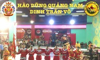 Kungfu-Ensemble Dinh Tran gewinnt den internationalen Drachen- und Löwentanzwettbewerb in Da Nang