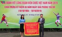 200 Spieler nehmen an Tennis-Turnier der Gewerkschaften für vietnamesische Angestellte teil