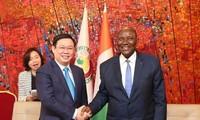 Vizepremierminister Vuong Dinh Hue trifft den Vizepräsidenten der Elfenbeinküste