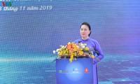 Parlamentspräsidentin Nguyen Thi Kim Ngan besucht Hoa Lac Hi-Tech-Park
