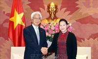 Parlamentspräsidentin Nguyen Thi Kim Ngan empfängt den Vizevorsitzenden des japanischen Oberhauses