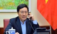 Vizepremierminister, Außenminister Pham Binh Minh führt Telefongespräch mit der spanischen Außenministerin