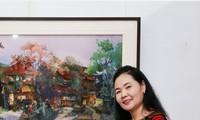 """Ausstellung """"Stahl und Stoff"""" der Bildhauerin Le Thi Hien und Malerin Tran Thanh Thuc"""
