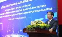 Einweihung der Datenbank der Verarbeitungs- und Zulieferindustrie in Vietnam