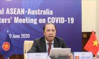 Online-Sonderkonferenz der Außenminister der ASEAN und Australiens über Covid-19-Epidemie
