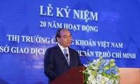 Premierminister: Ansehen der vietnamesischen Börse in der Region verbessern