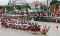 Abschluss des Ghe Ngo-Bootsrennens im Mekong-Delta