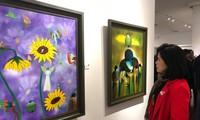 Private Ausstellung des Dichters Nguyen Quang Thieu