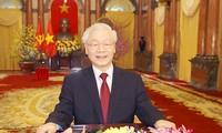 Glückwunsch zum Neujahr des KPV-Generalsekretärs und Staatspräsidenten Nguyen Phu Trong