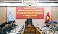 Übergabe der Entscheidung für vietnamesische Offiziere zur Übernahme der Arbeit am UN-Sitz