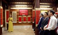Eröffnung der kalligrafischen Ausstellung in Provinz Vinh Phuc
