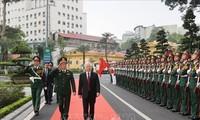 KPV-Generalsekretär Nguyen Phu Trong nimmt am 70. Gründungstag des zentralen Militärkrankenhauses 108 teil