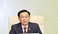 Parlamentspräsident Vuong Dinh Hue tagt mit dem Parlamentsausschuss für Verteidigung und Sicherheit