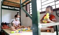 Schutz der Kinder vor Naturkatastrophen und Epidemie