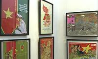 Ausstellung für Aufklärungsbilder zum Thema Aufbau und Verteidigung des Vaterlandes