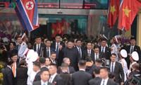 DPRK Chairman Kim Jong-un arrives in Vietnam