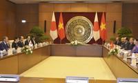 Top legislator meets Japan PM