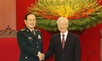 Party leader hosts Chinese Defense Minister
