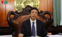 ท่าน Nguyen Dang Tien ประธานสถานีวิทยุเวียดนามคำอวยพรปีใหม่2015ผู้ฟังชาวต่างชาติ