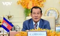 นายกรัฐมนตรีกัมพูชาฮุนเซนส่งจดหมายแสดงความยินดีถึงนายกรัฐมนตรีฝามมิงชิ้ง
