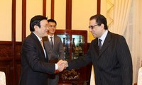 President Truong Tan Sang receives outgoing Saudi Arabian Ambassador
