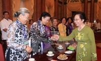 Vice President receives revolutionary contributors in Dong Thap