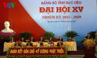 Party congresses of Bac Lieu, Soc Trang, and Lang Son province