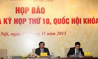 International press conference on results of National Assembly session