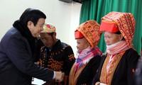President visits Lang Son