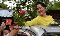 缅甸总统夫人苏苏尔温参观河内名胜