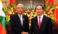 缅甸总统吴廷觉圆满结束对越南的国事访问