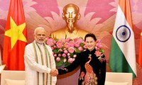 越南国会主席阮氏金银对印度进行访问