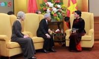 越南国会主席阮氏金银会见日本天皇和皇后